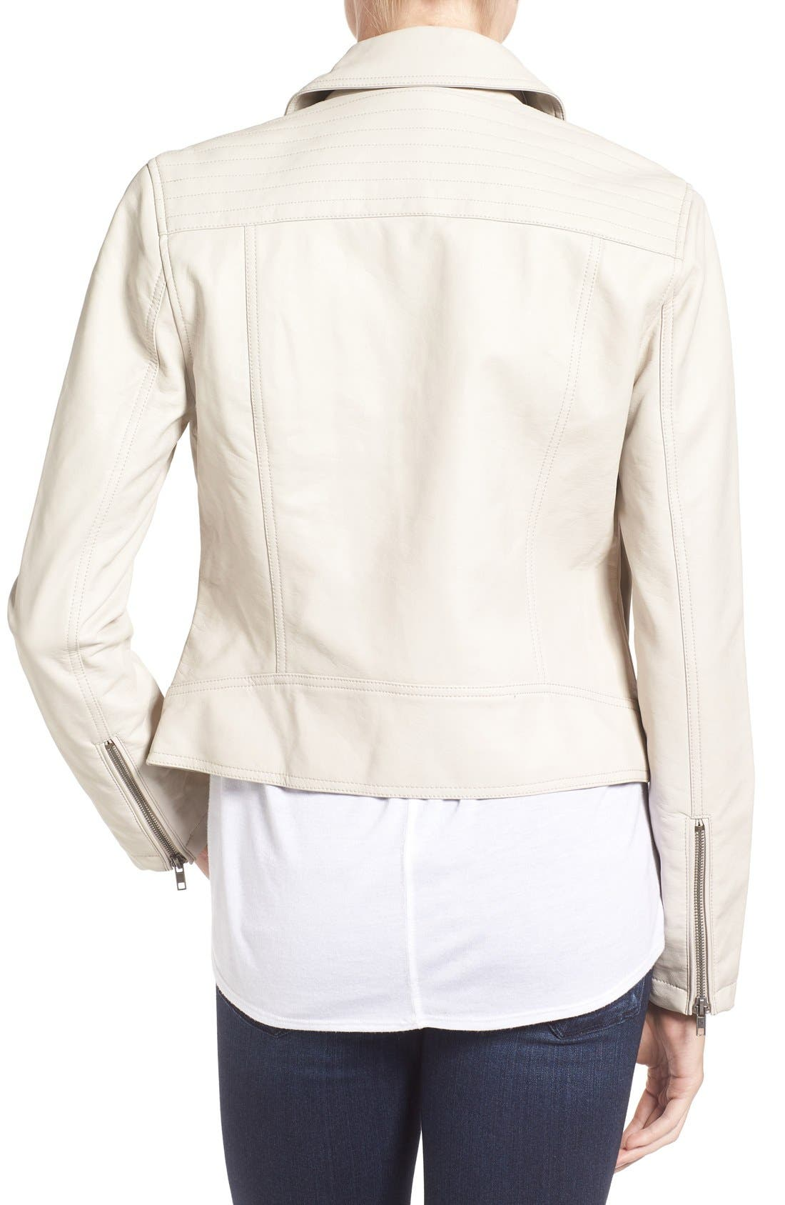 Alternate Image 2  - cupcakes and cashmere 'Joslyn' Faux Leather Moto Jacket