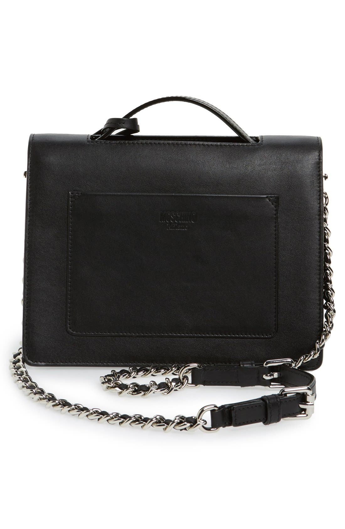 Alternate Image 2  - Moschino Top Handle Leather Crossbody Bag