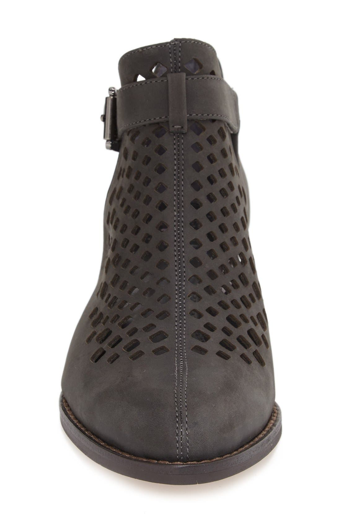 'Cadey' Cutout Bootie,                             Alternate thumbnail 3, color,                             Battleship Nubuck Leather