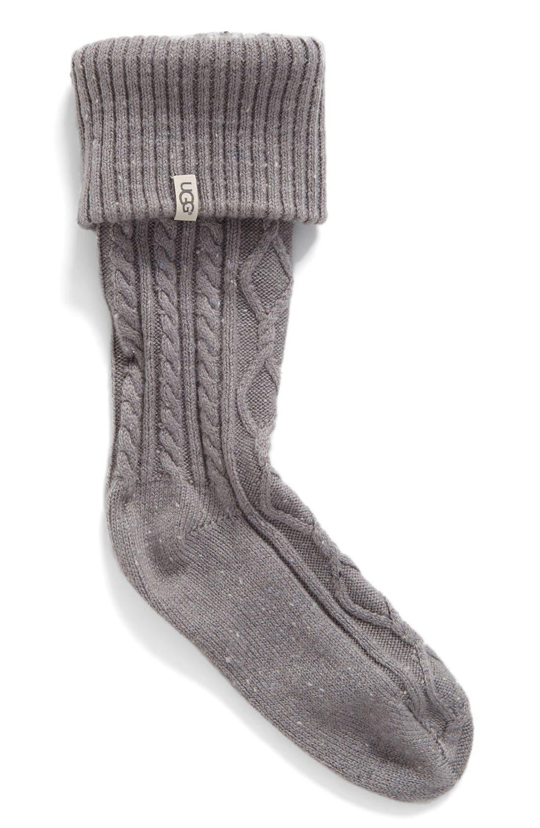 'Shaye' Tall Boot Socks,                             Main thumbnail 1, color,                             Seal Fabric