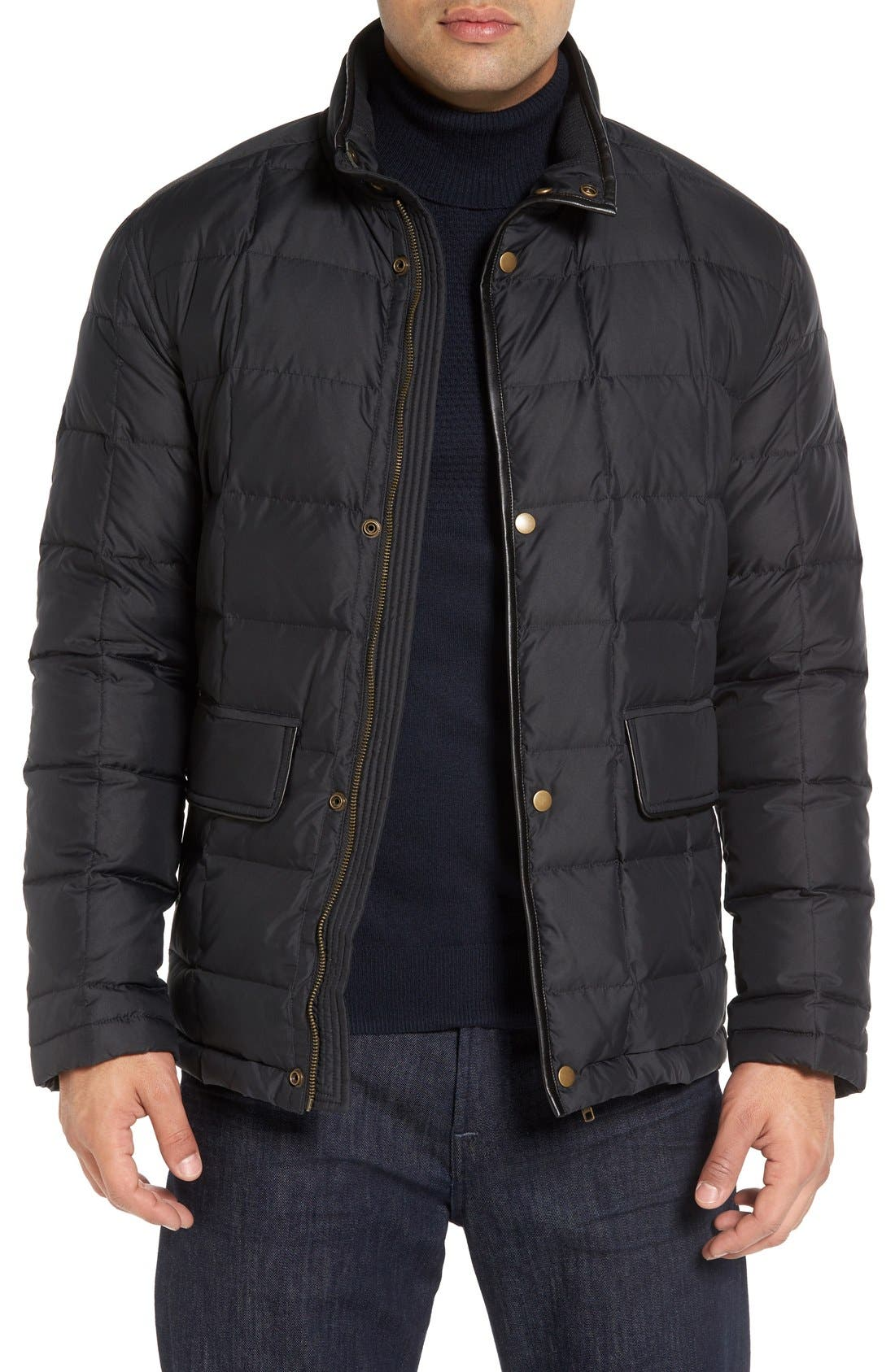 Alternate Image 1 Selected - Cole Haan Box Quilted Jacket