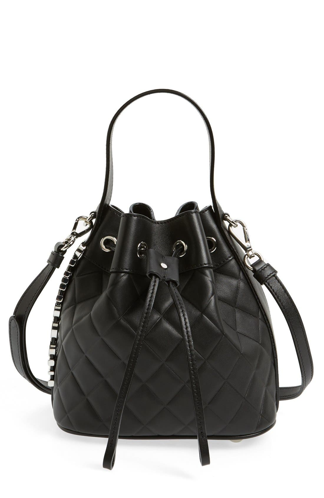 Alternate Image 1 Selected - Mocscino Mini Letters Quilted Bucket Bag