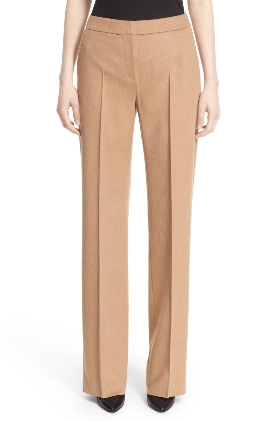 Max Mara 'Pescia' Camel Hair Pants