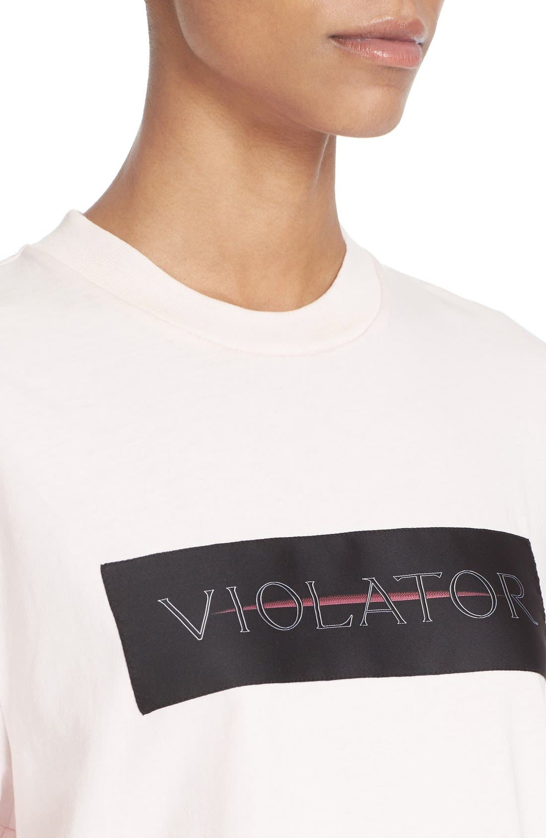 Alternate Image 5  - Alexander Wang Label Patch Tee