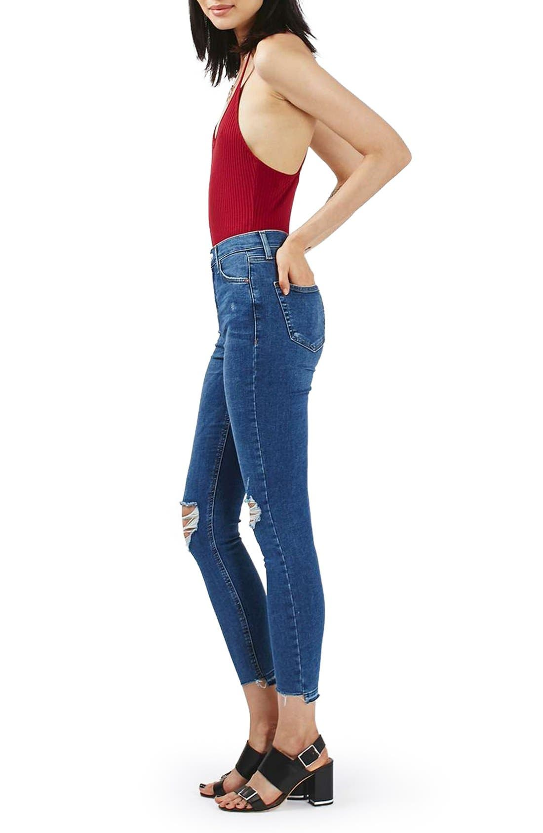 Main Image - Topshp Cross Back Plunge Bodysuit (Petite)