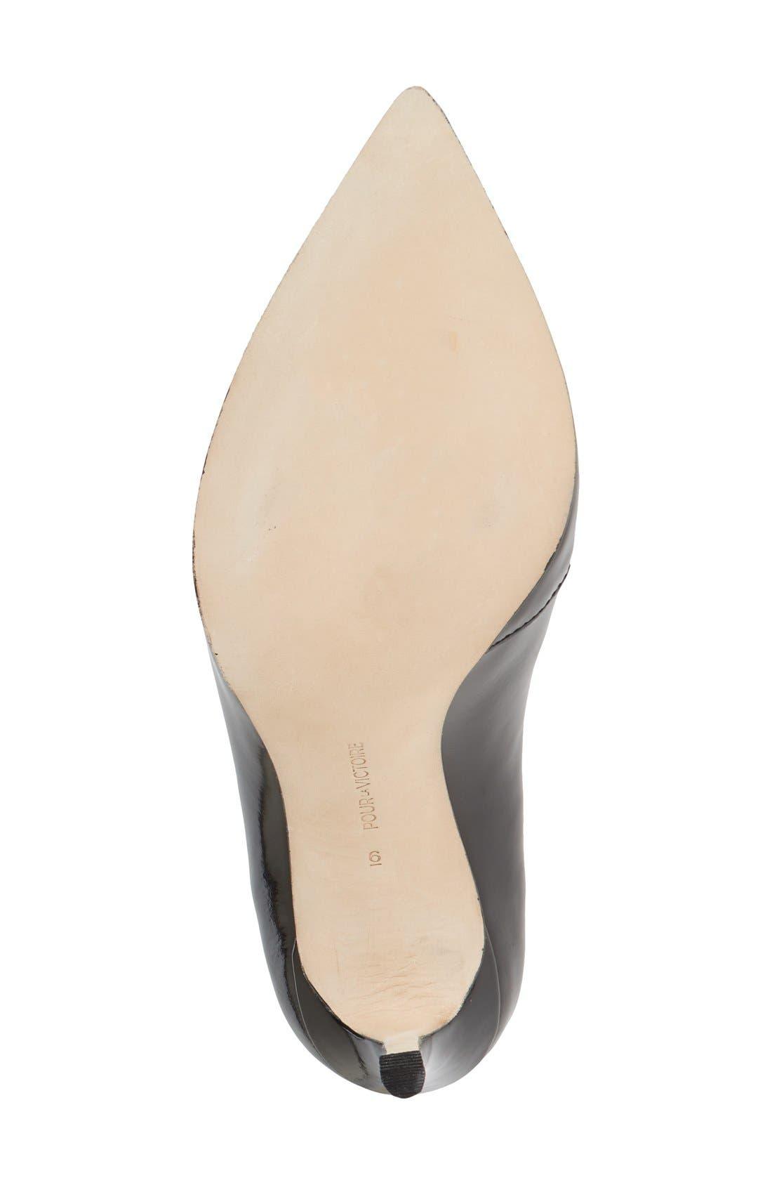 Alternate Image 4  - Pour la Victoire 'Calinda' Split Vamp Pointy Toe Pump (Women)