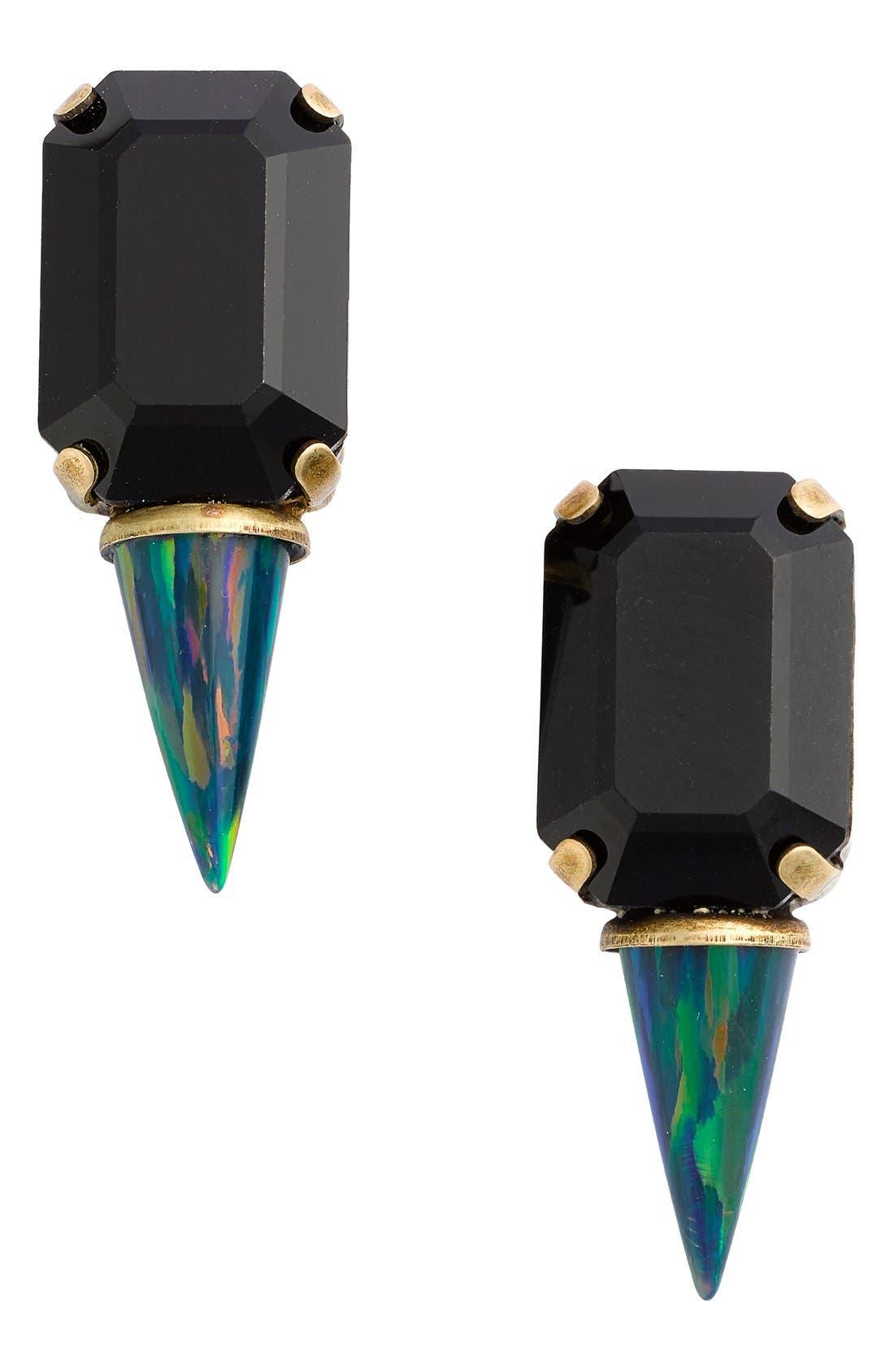 Alternate Image 1 Selected - Lionette by Noa Sade 'Gali' Simulated Opal & Swarovski Crystal Spike Stud Earrings