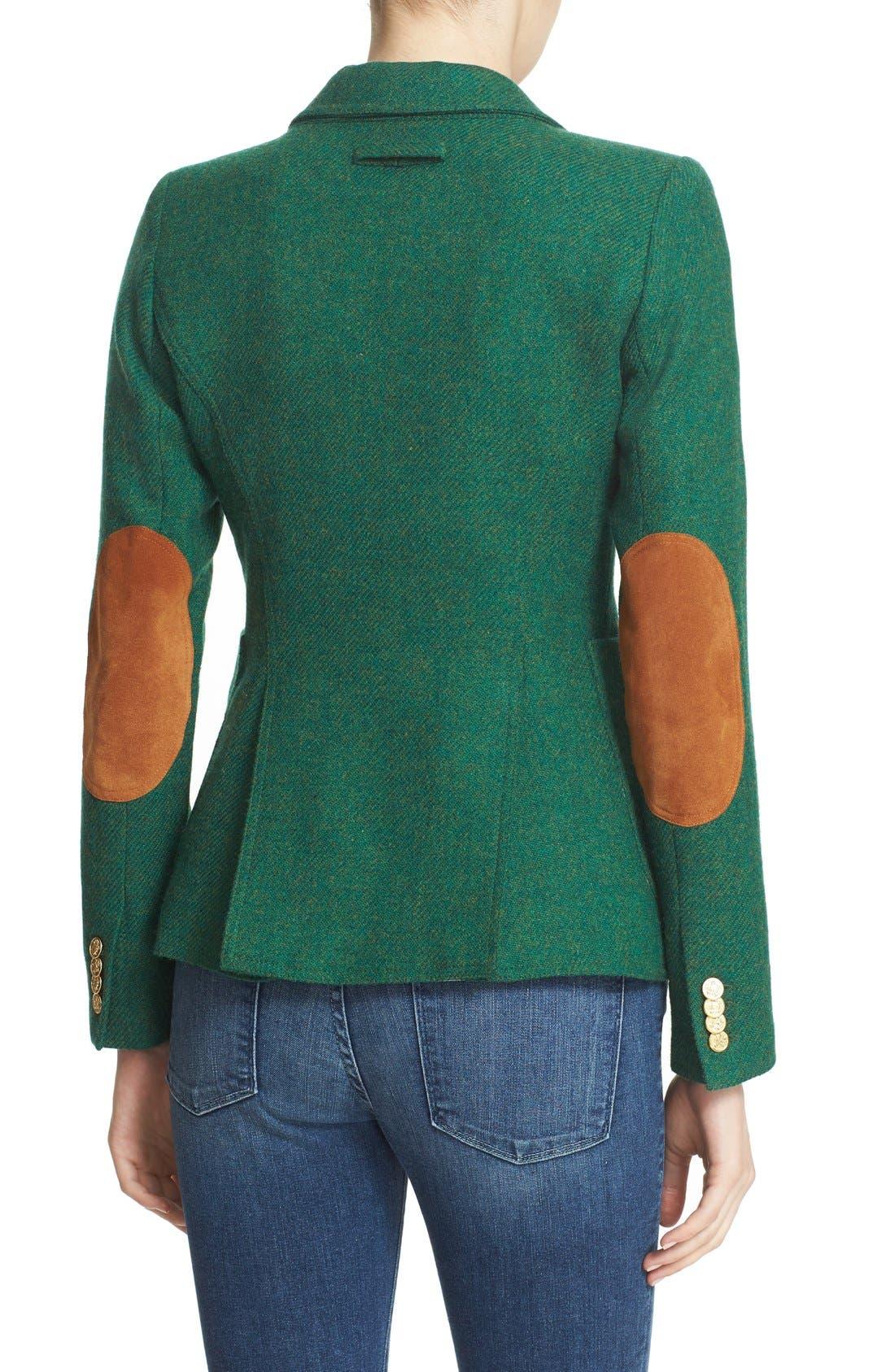 Alternate Image 2  - Smythe 'Duchess' Suede Trim Wool Blend Blazer