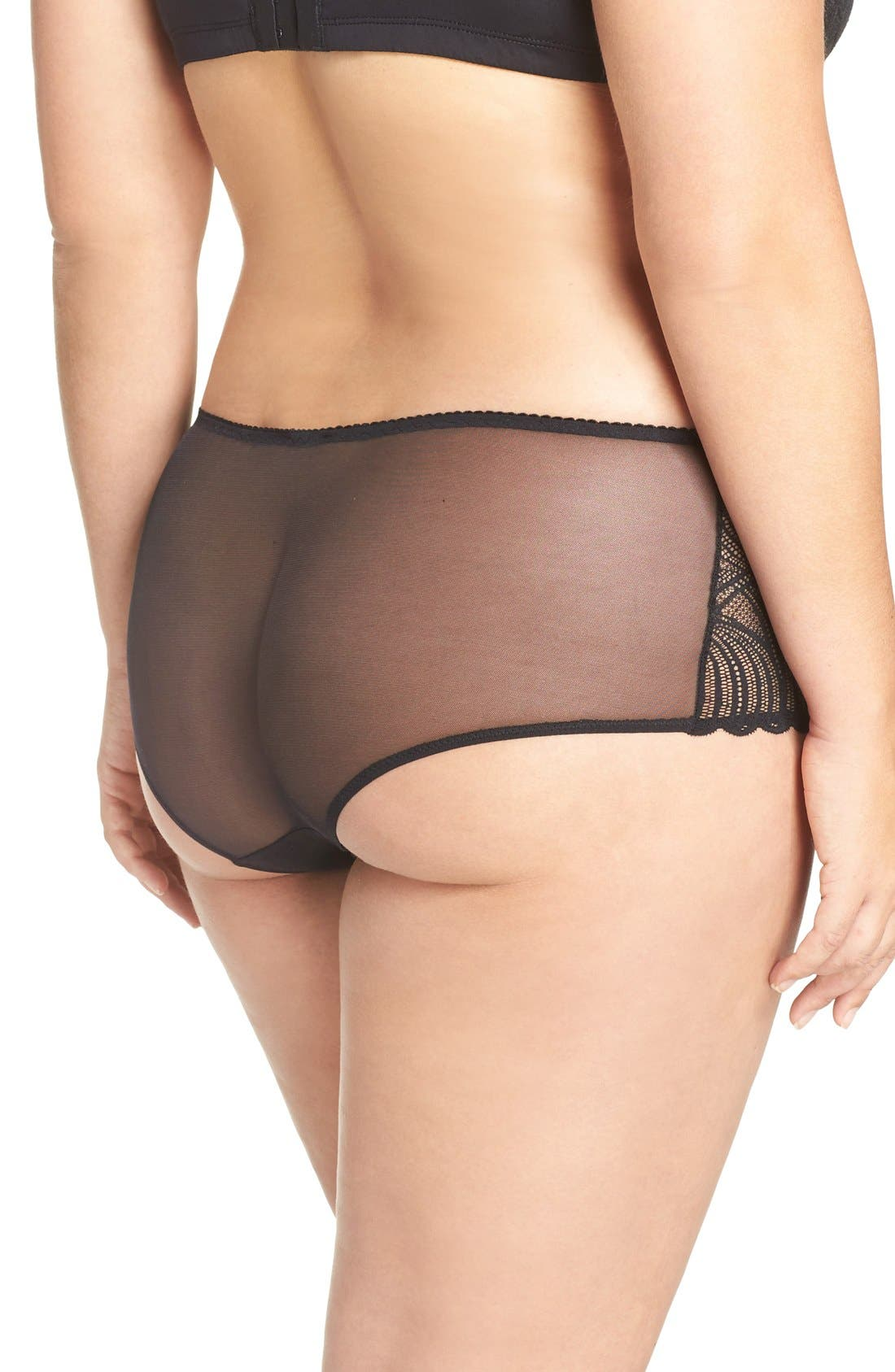 Alternate Image 2  - Cosabella Minoa Low Rise Boyshorts (Plus Size)