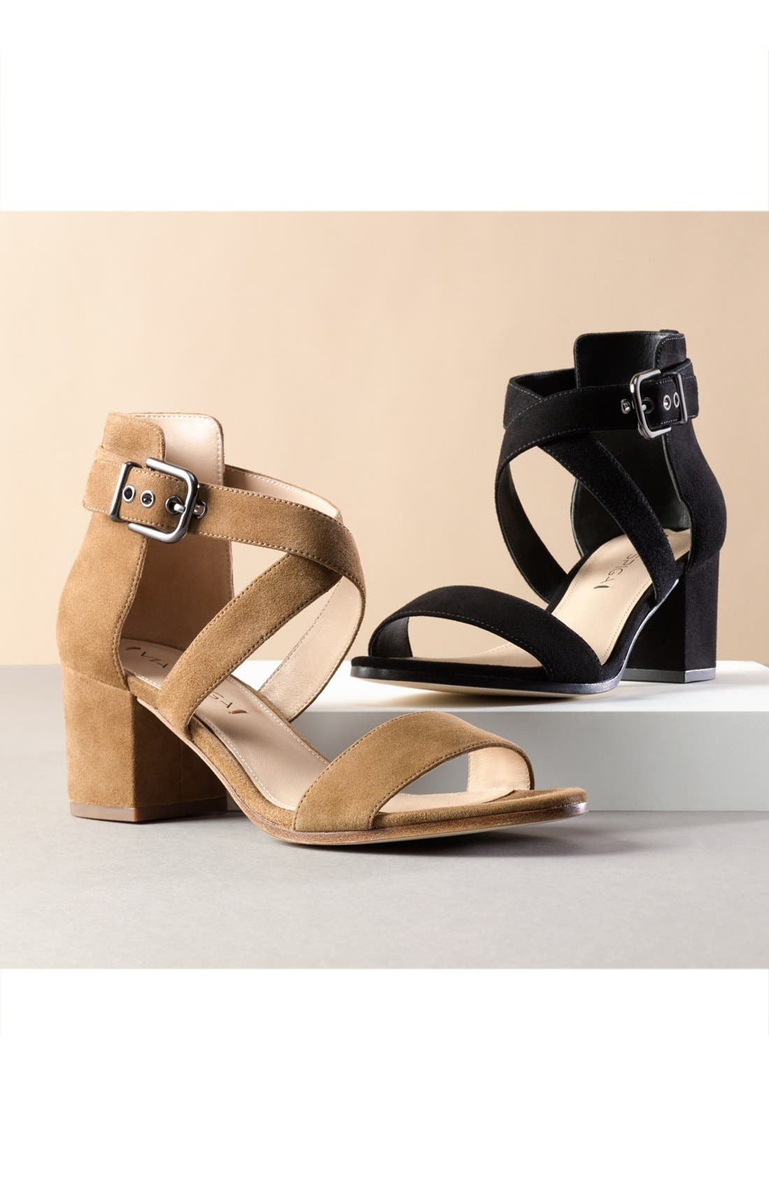 'Jobina' Crisscross Strap Block Heel Sandal,                             Alternate thumbnail 6, color,