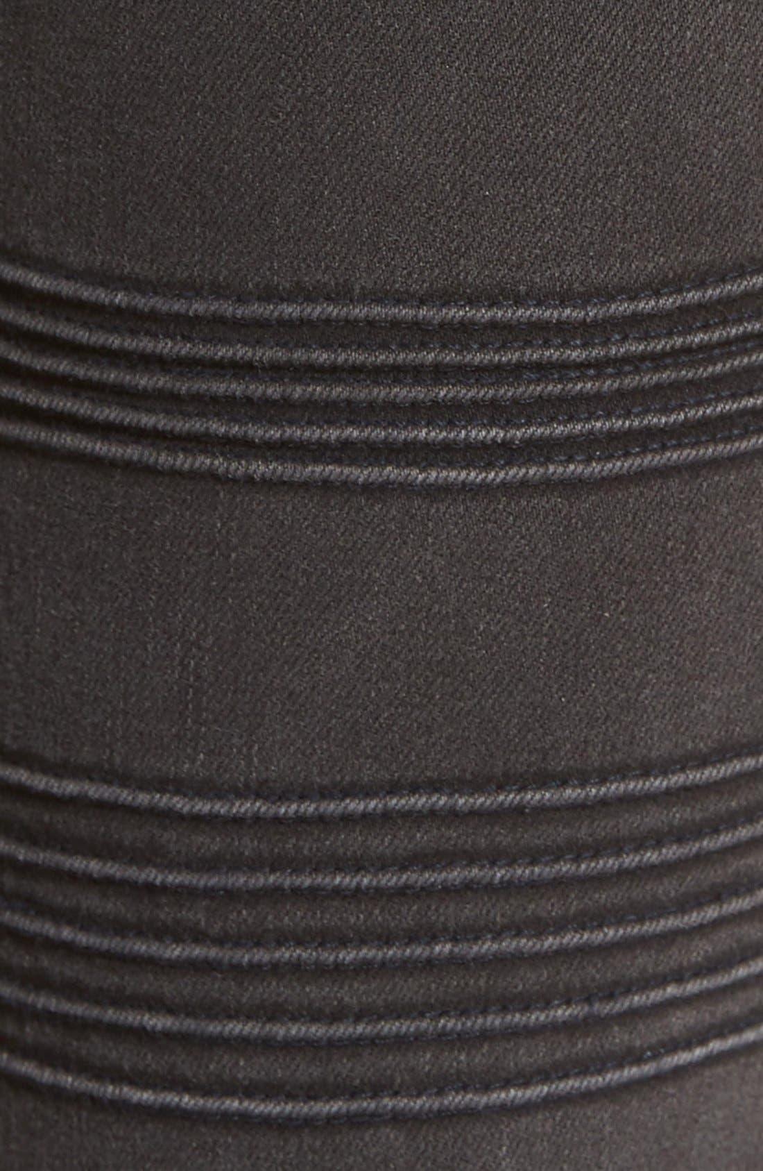 Alternate Image 6  - Vigoss 'Chelsea' Moto Skinny Jeans
