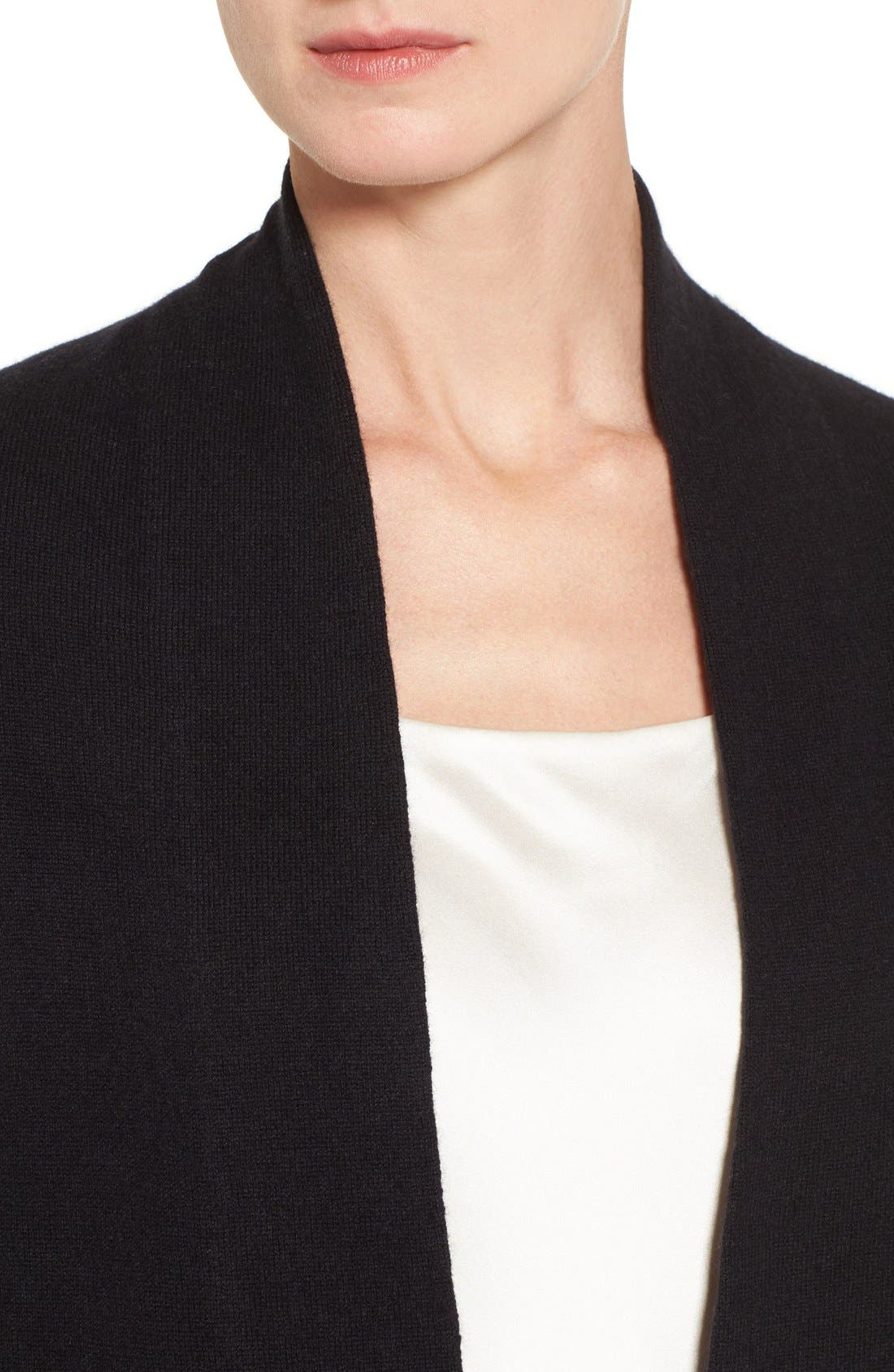 Alternate Image 4  - Nordstrom Collection Open Front Cashmere Cardigan