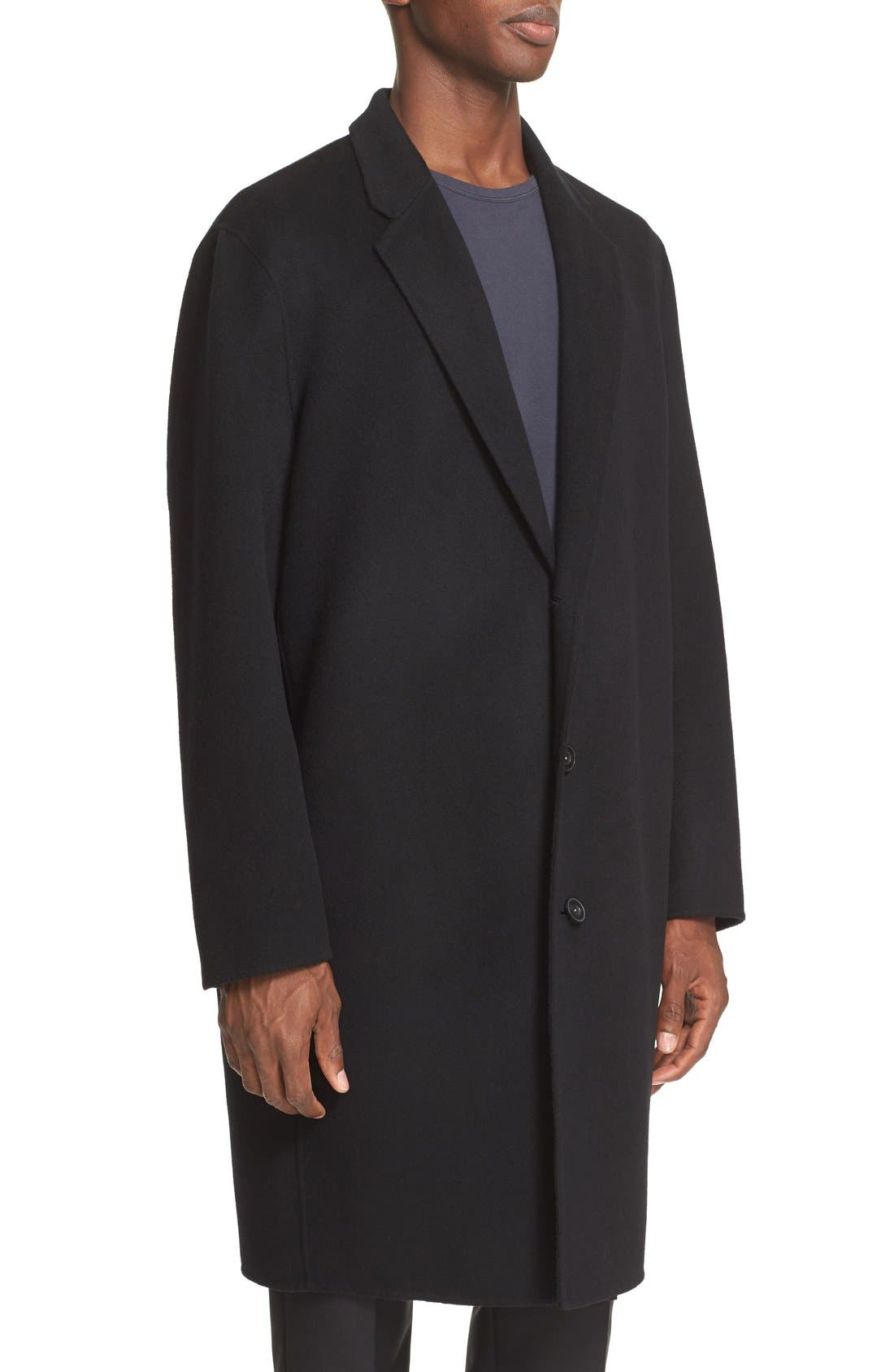 Charles Wool & Cashmere Coat,                             Alternate thumbnail 4, color,                             Black