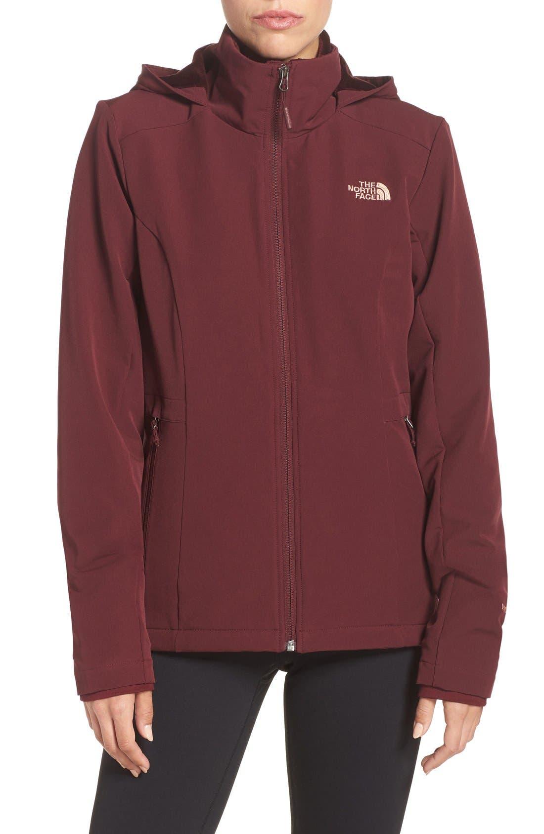 'Shelbe Raschel' Softshell Jacket,                             Main thumbnail 1, color,                             Deep Garnet Red