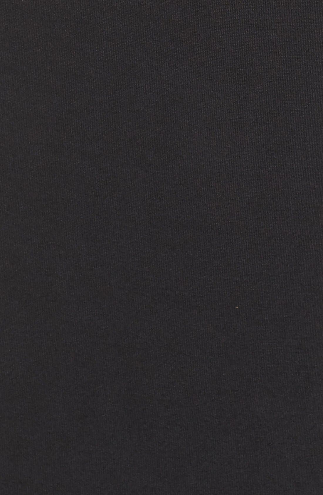 Plunge Neck Jersey Gown,                             Alternate thumbnail 6, color,                             Black