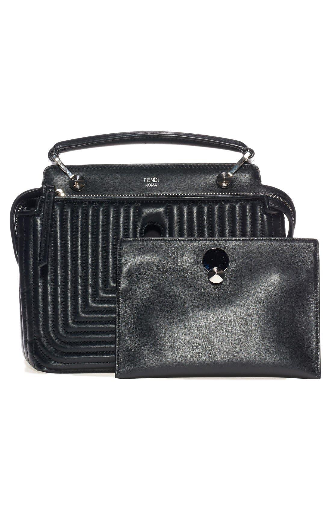 Alternate Image 6  - Fendi 'DOTCOM Click' Quilted Leather Satchel