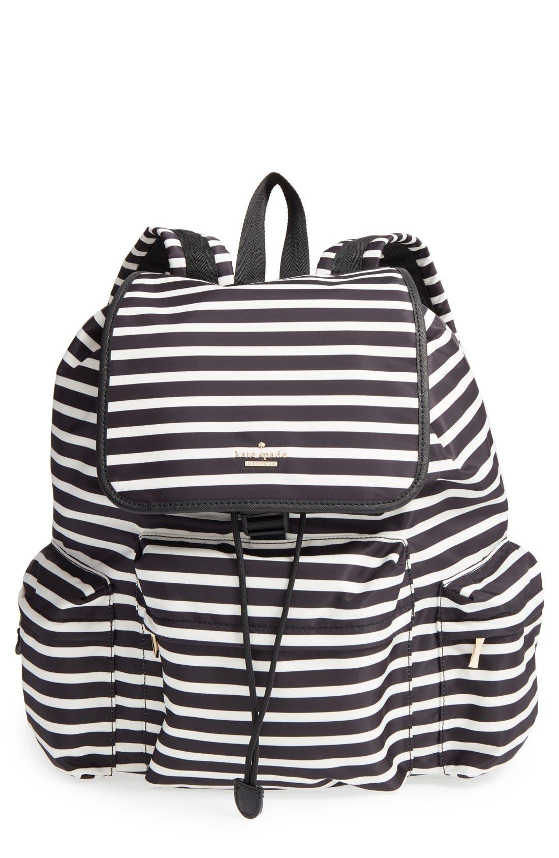 Main Image - kate spade new york 'classic - clay' nylon backpack