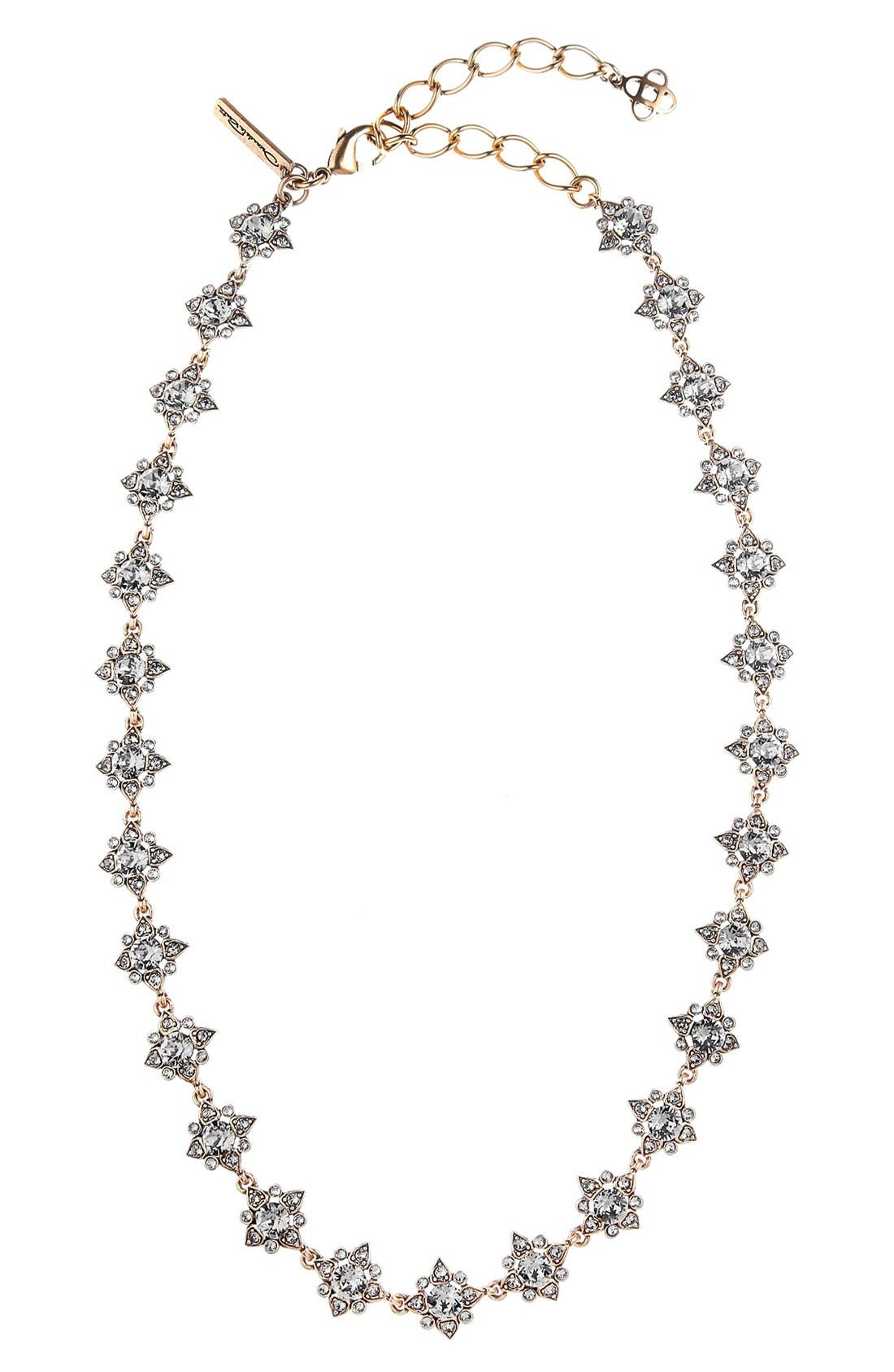 'Delicate Star' Swarovski Crystal Collar Necklace,                             Main thumbnail 1, color,                             Black