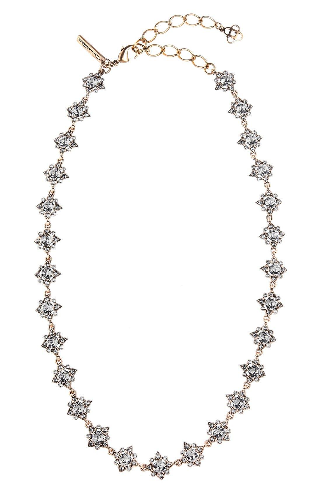 'Delicate Star' Swarovski Crystal Collar Necklace,                         Main,                         color, Black