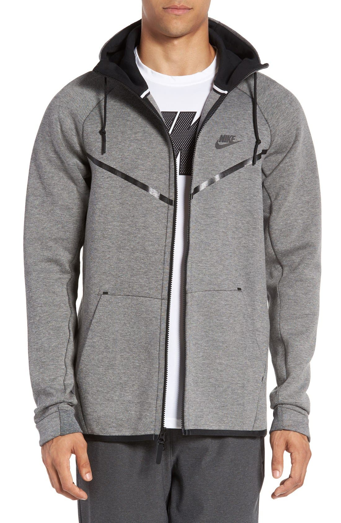 Alternate Image 1 Selected - Nike 'Windrunner' Tech Fleece Hoodie