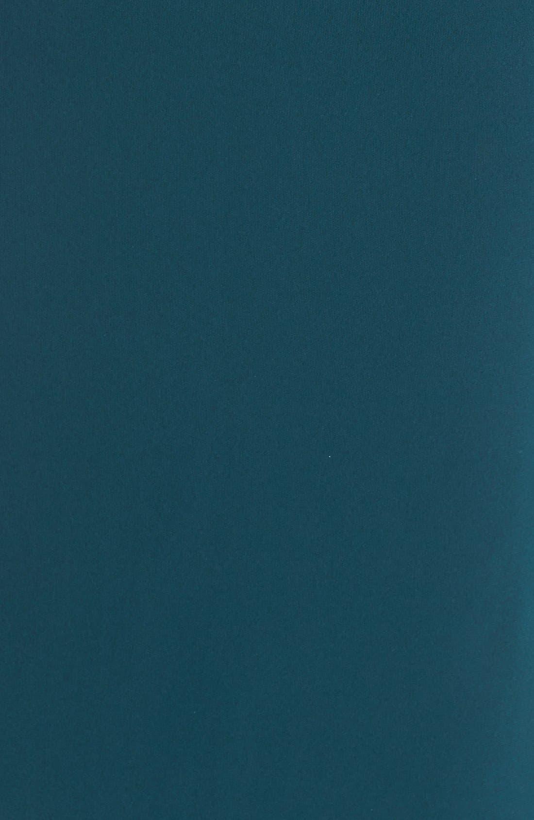 'Solange' Off the Shoulder Midi Dress,                             Alternate thumbnail 6, color,                             Teal