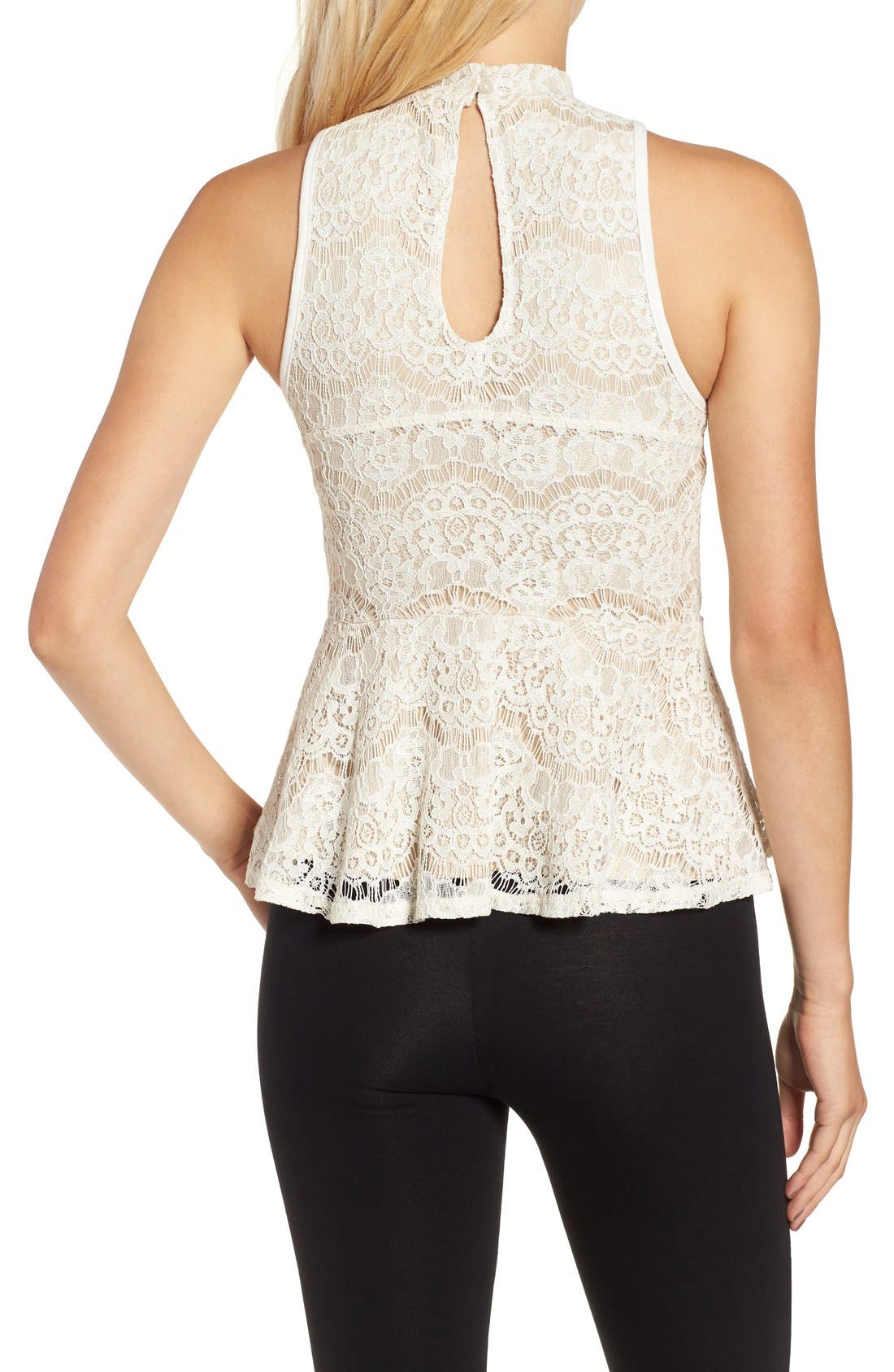 Alternate Image 2  - Fire Lace Peplum Tank