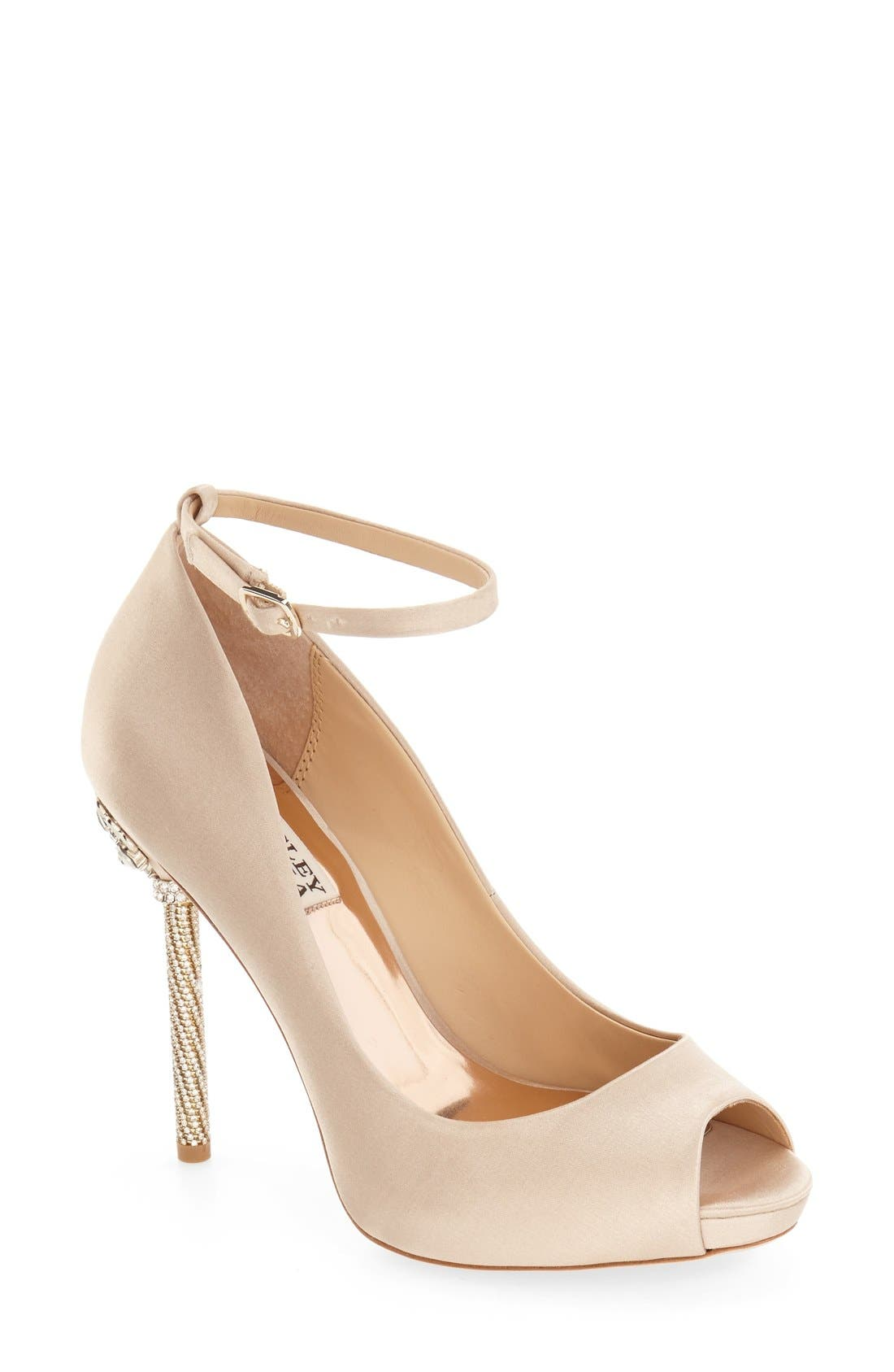 Alternate Image 1 Selected - Badgley Mischka 'Diego' Ankle Strap Pump (Women)