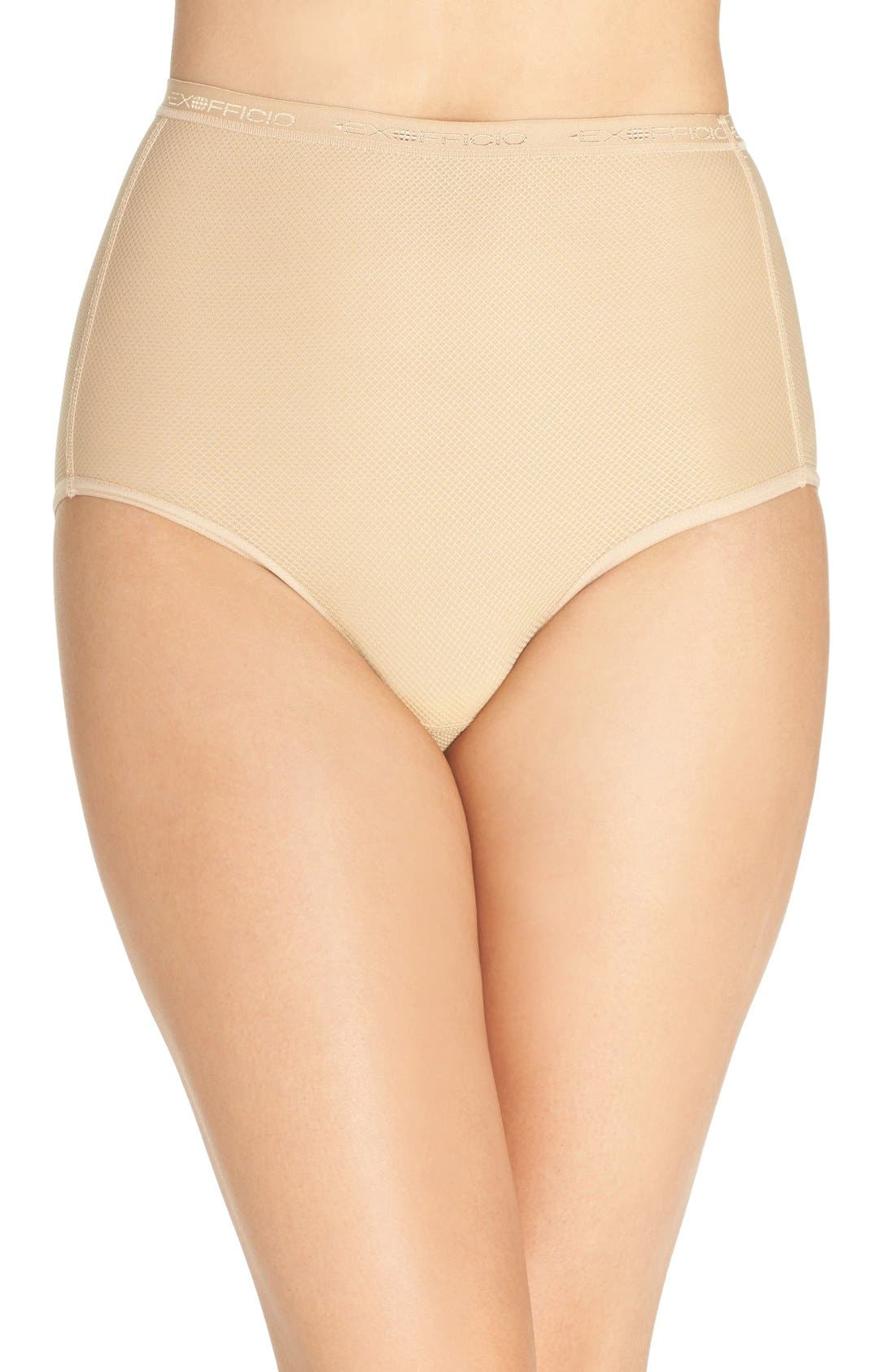 Give-N-Go<sup>®</sup> High Waist Sport Briefs,                             Main thumbnail 1, color,                             Nude