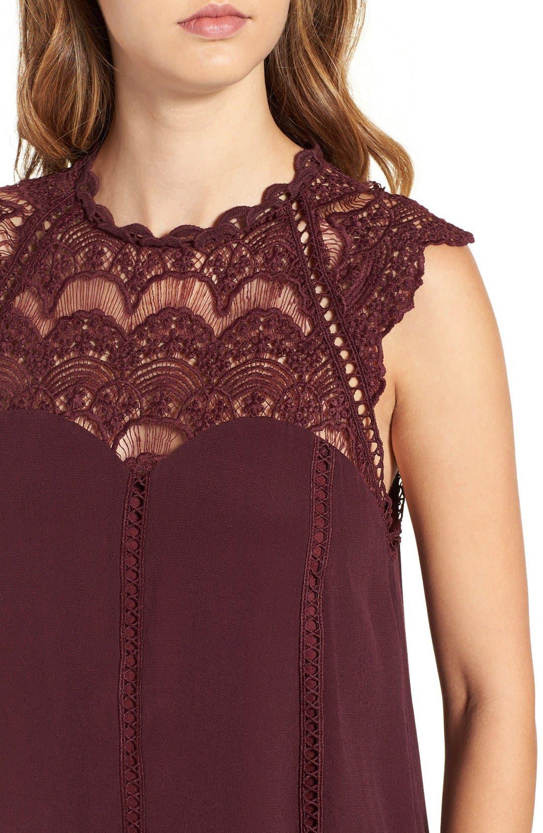 Alternate Image 4  - 4SI3NNA Lace Yoke Shift Dress
