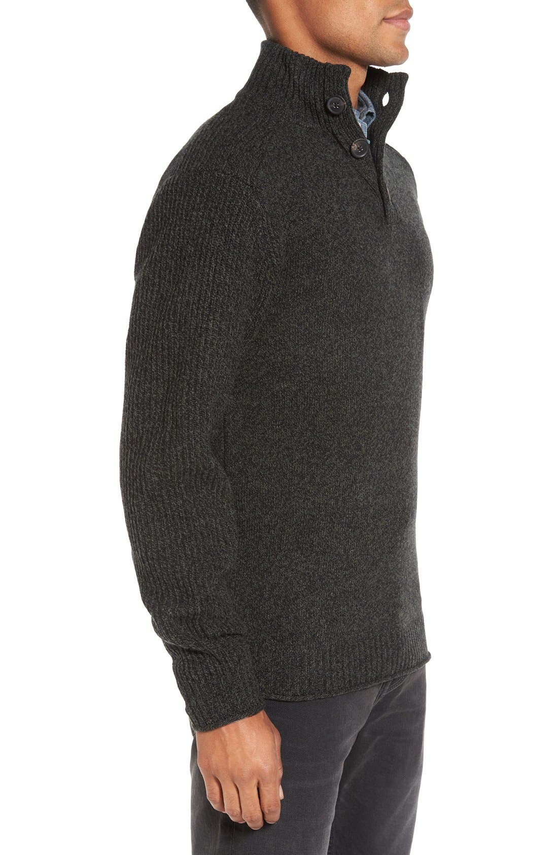 Birkenhead Mock Neck Sweater,                             Alternate thumbnail 3, color,                             Forest