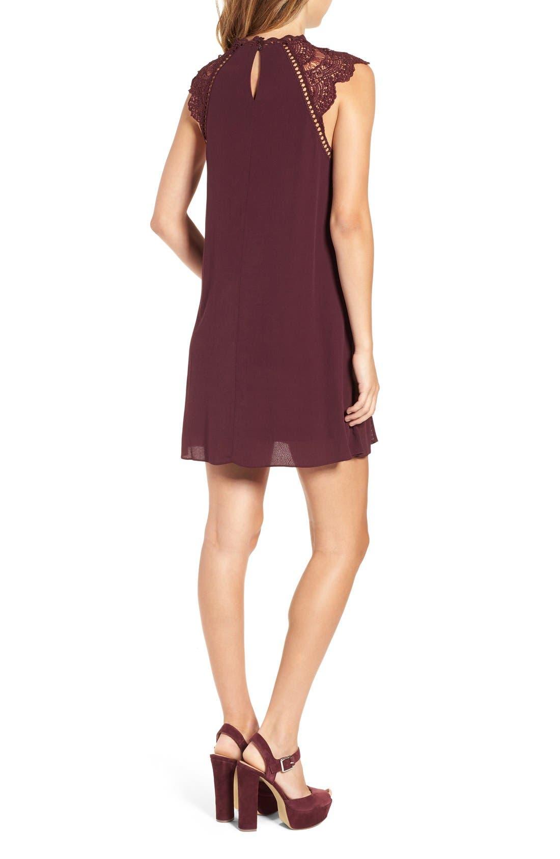 Alternate Image 2  - 4SI3NNA Lace Yoke Shift Dress