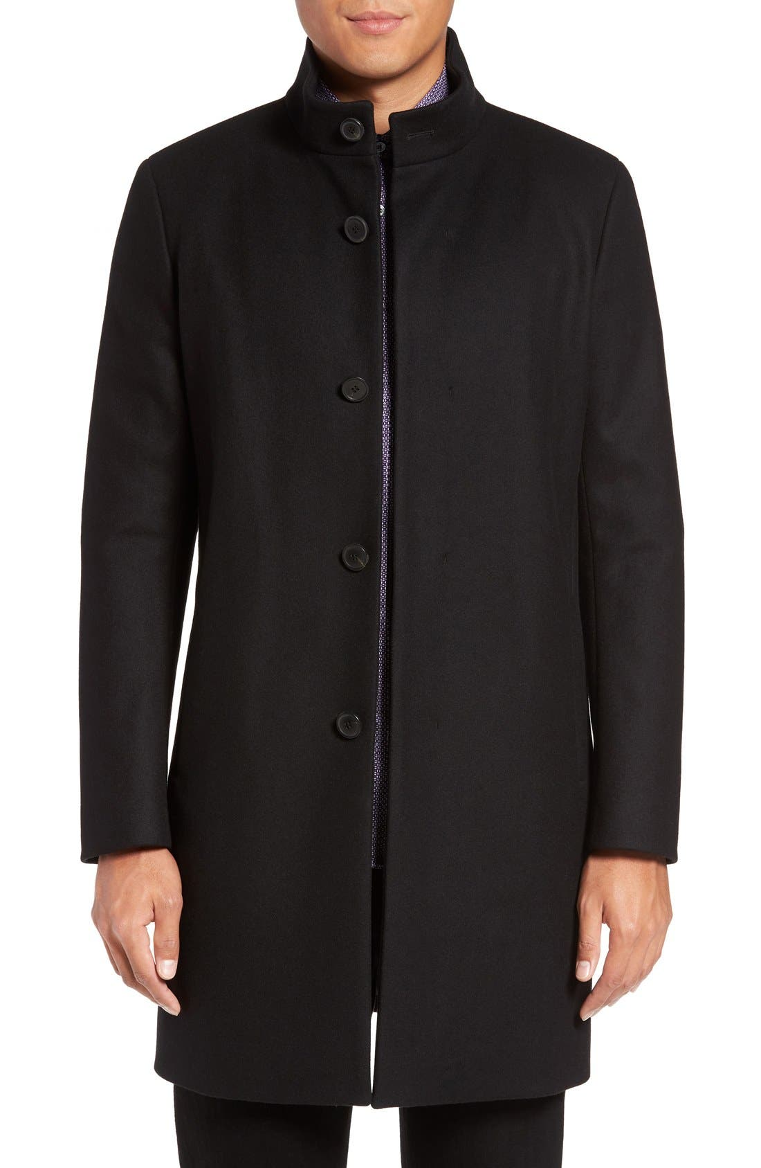 Alternate Image 1 Selected - Theory 'Belvin' Wool Blend Car Coat