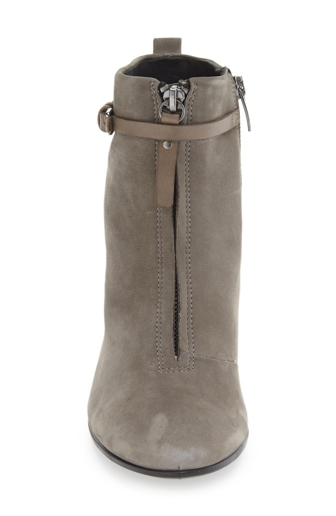 'Shape 75' Bootie,                             Alternate thumbnail 3, color,                             Warm Grey Nubuck Leather