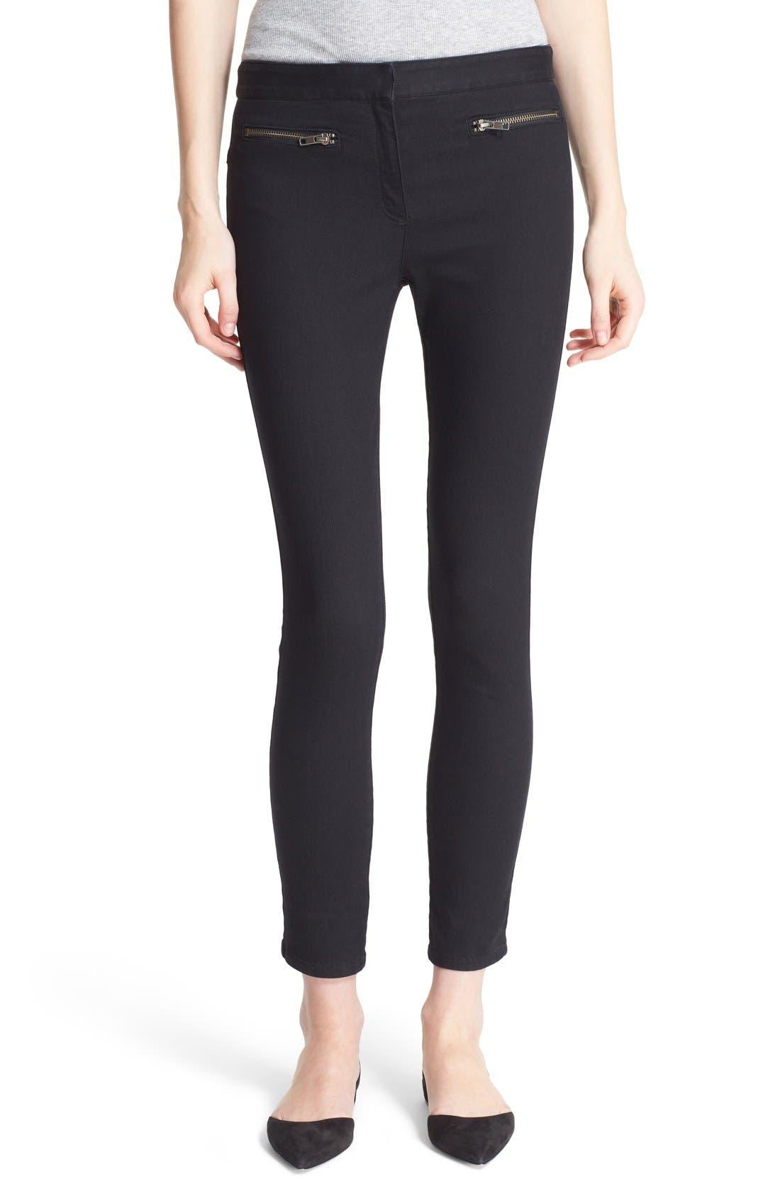 Skinny Crop Trousers,                         Main,                         color, Black