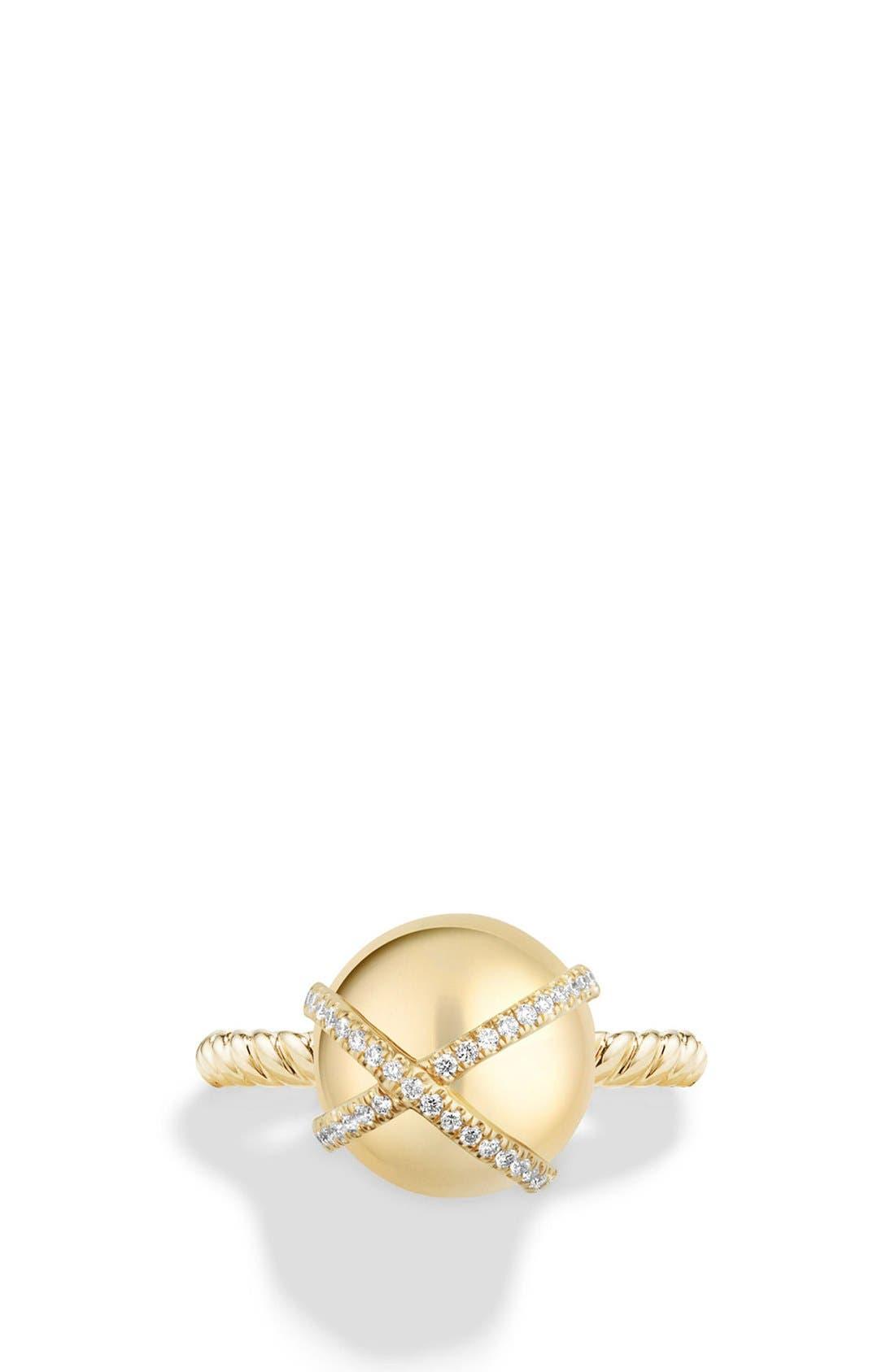 Alternate Image 3  - David Yurman 'Solari' Wrap Ring with Pavé Diamonds in 18k Gold