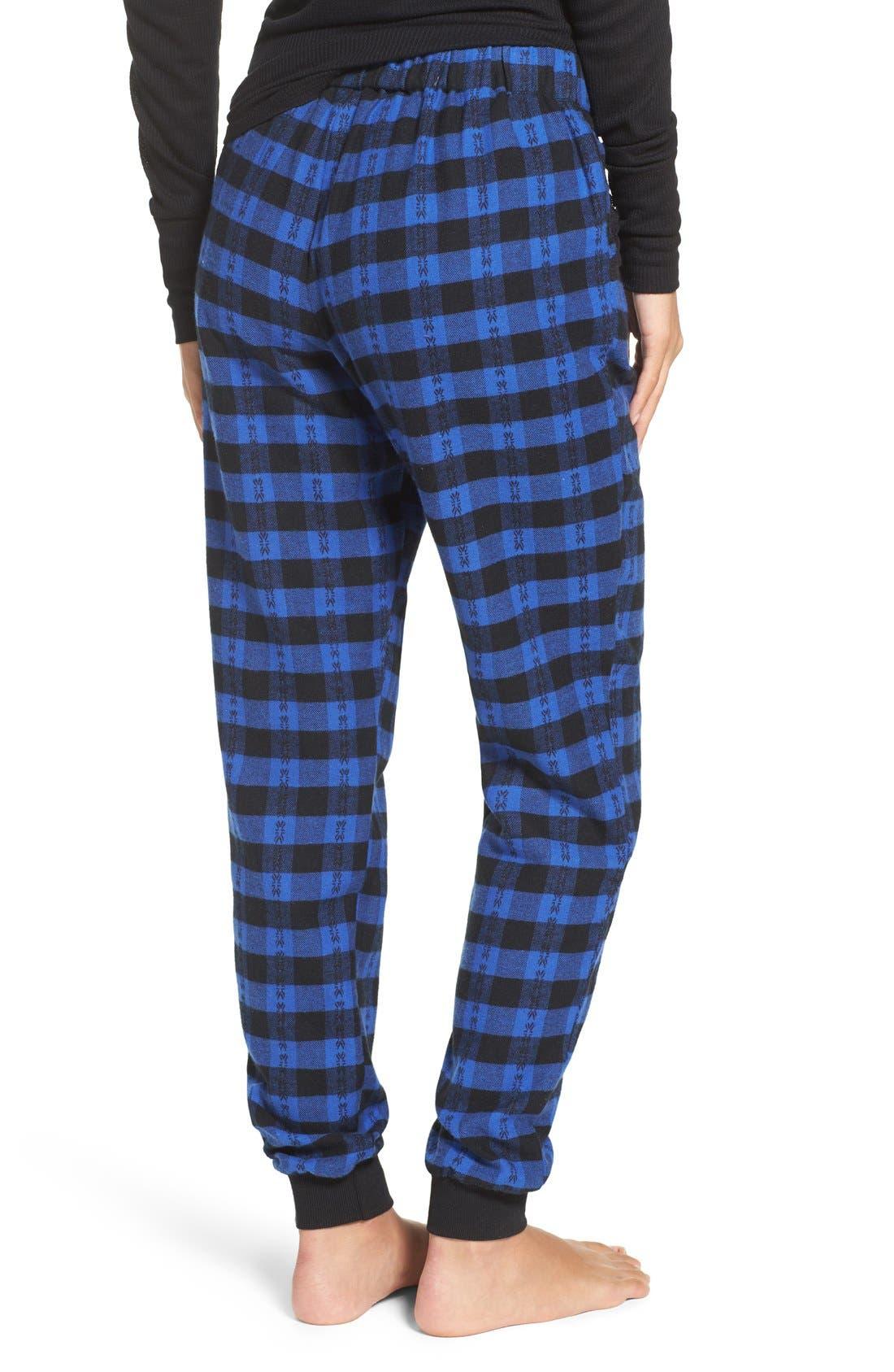 Alternate Image 2  - Make + Model Plaid Flannel Lounge Pants
