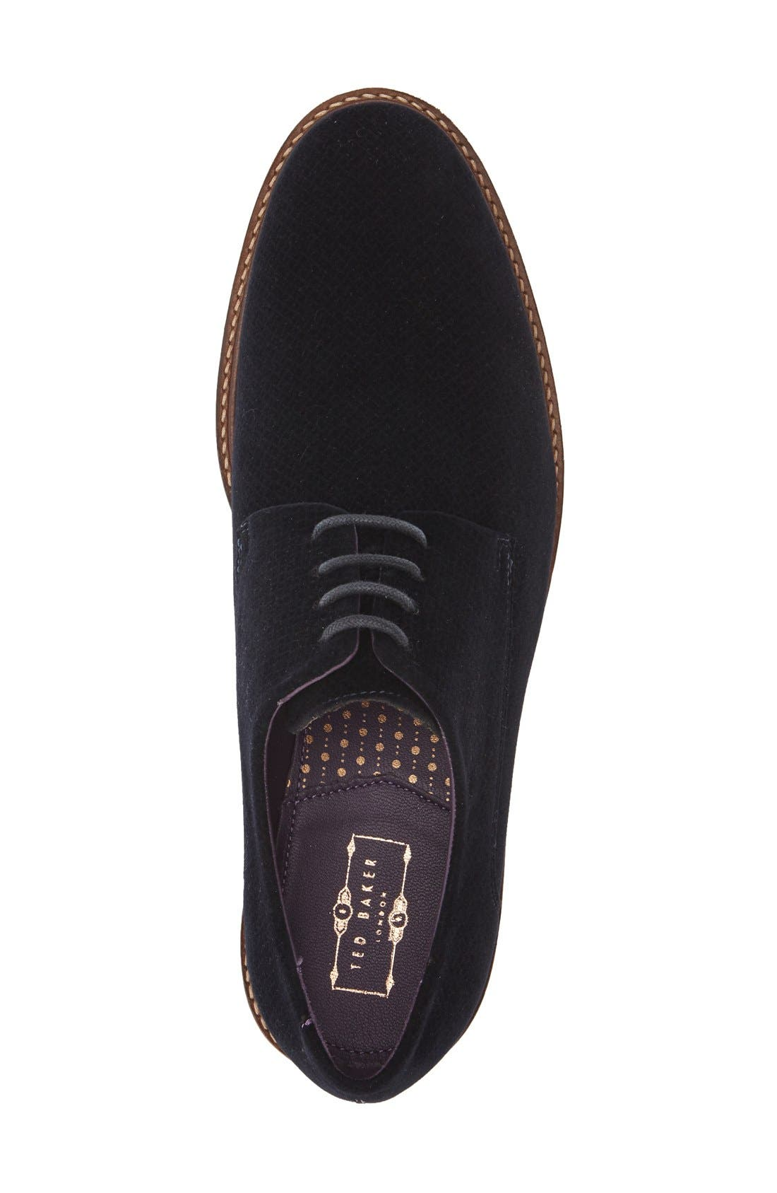 'Nierro' Plain Toe Derby,                             Alternate thumbnail 3, color,                             Dark Blue