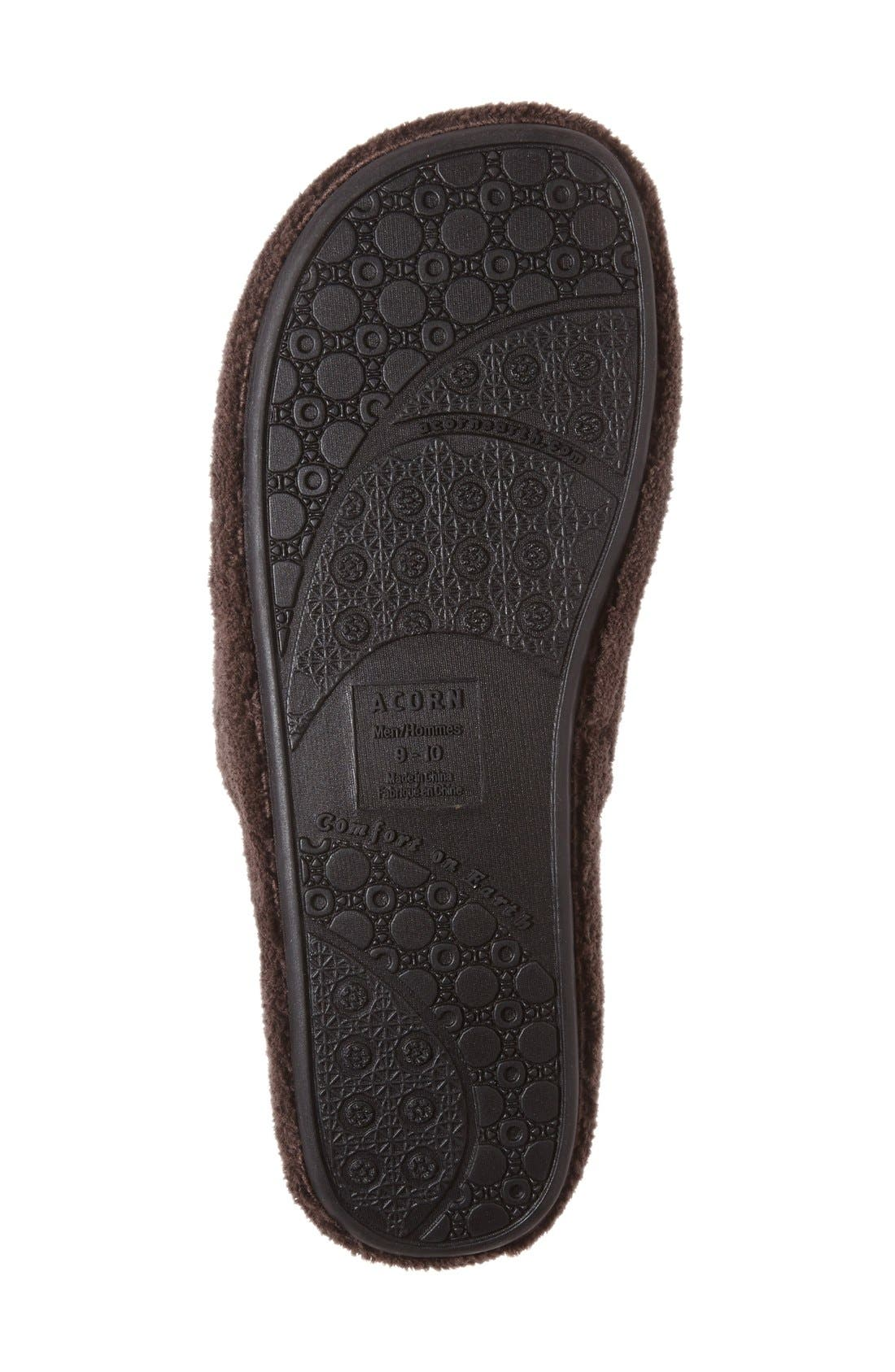 'Spa' Slipper,                             Alternate thumbnail 4, color,                             Chocolate