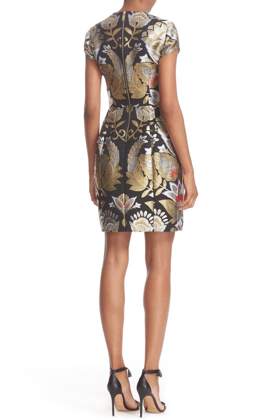Alternate Image 2  - Ted Baker London Imoen Opulent Orient Jacquard Fit & Flare Dress