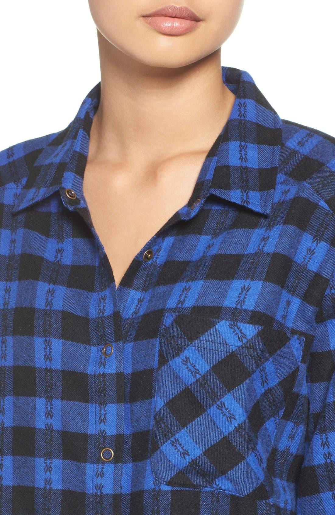 Alternate Image 4  - Make + Model Flannel Nightshirt