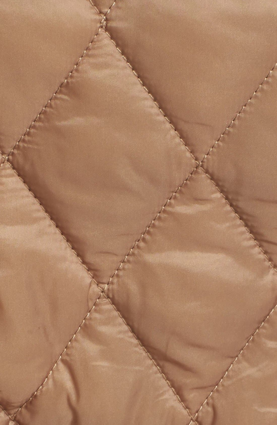 Finsbridge Short Quilted Jacket,                             Alternate thumbnail 3, color,                             Pale Fawn