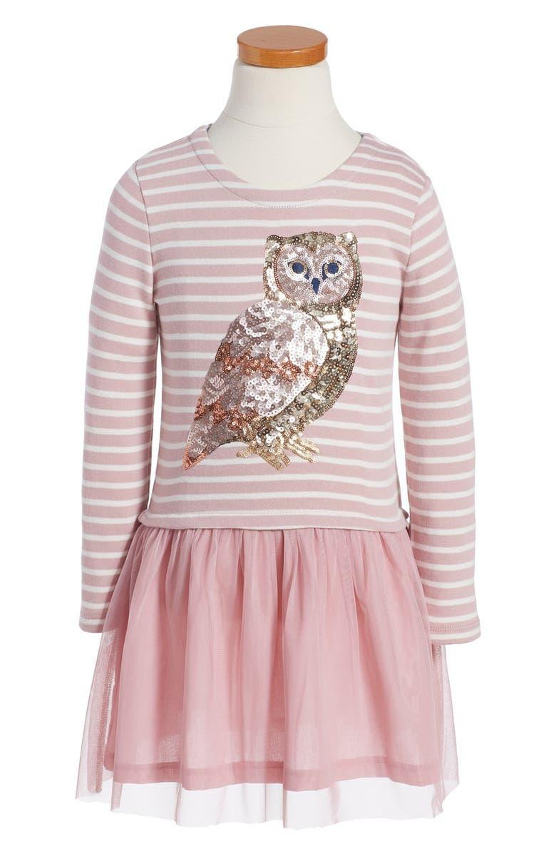 Mini Boden Stripe Amp Sequin Tulle Dress Little Girls Amp Big