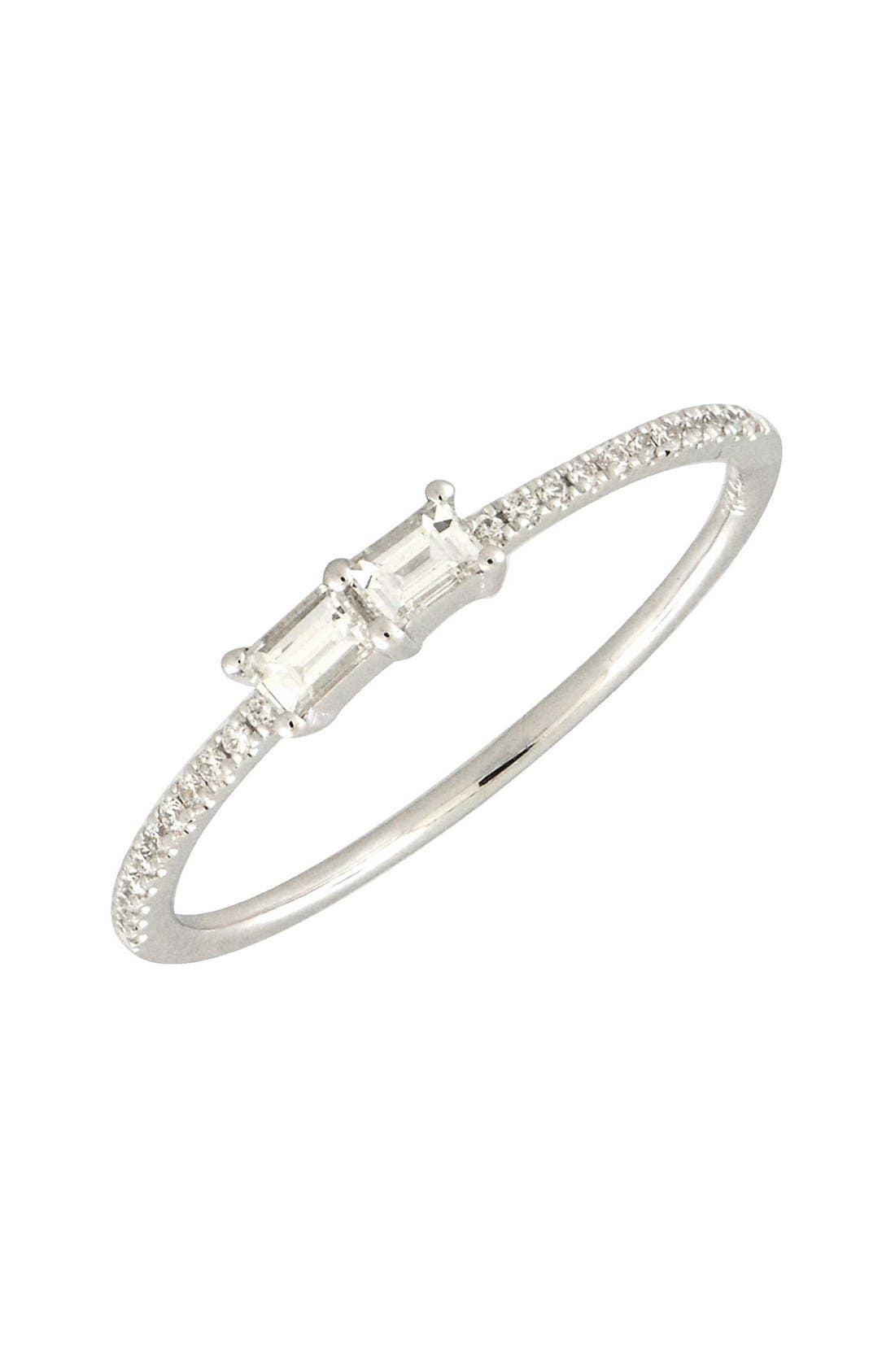 Bony Levy Double Baguette Diamond Ring (Nordstrom Exclusive)