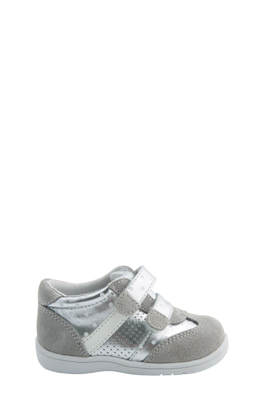 Nina 'Everest' Sneaker,                             Alternate thumbnail 2, color,                             Silver