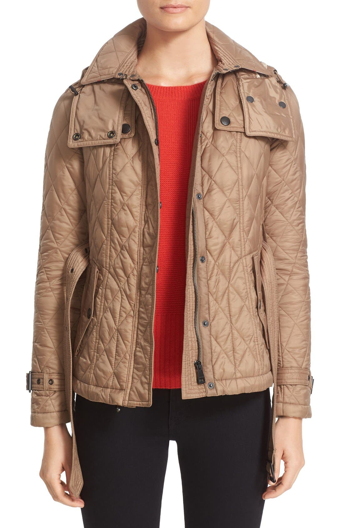 Finsbridge Short Quilted Jacket,                         Main,                         color, Pale Fawn