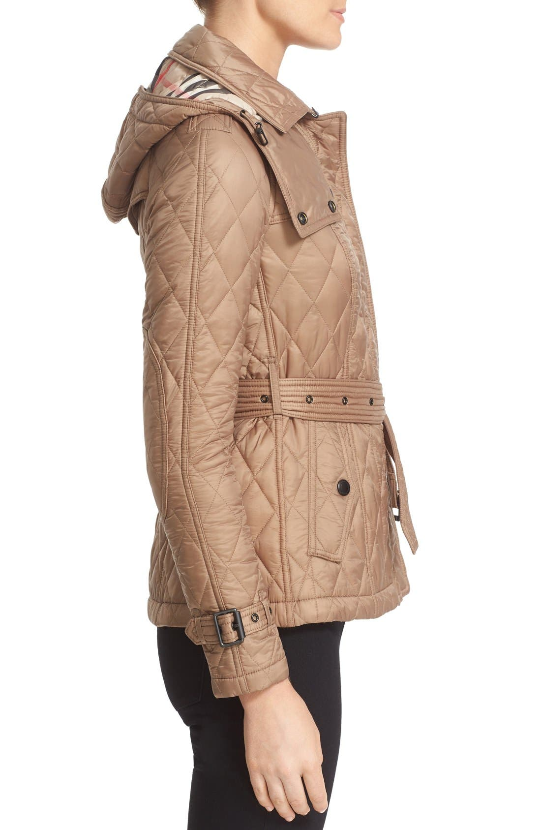 Finsbridge Short Quilted Jacket,                             Alternate thumbnail 6, color,                             Pale Fawn