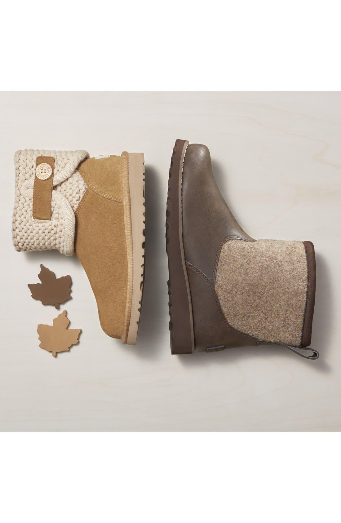 Alternate Image 5  - UGG® Darrah Purl Knit Cuff Boot (Little Kid & Big Kid)