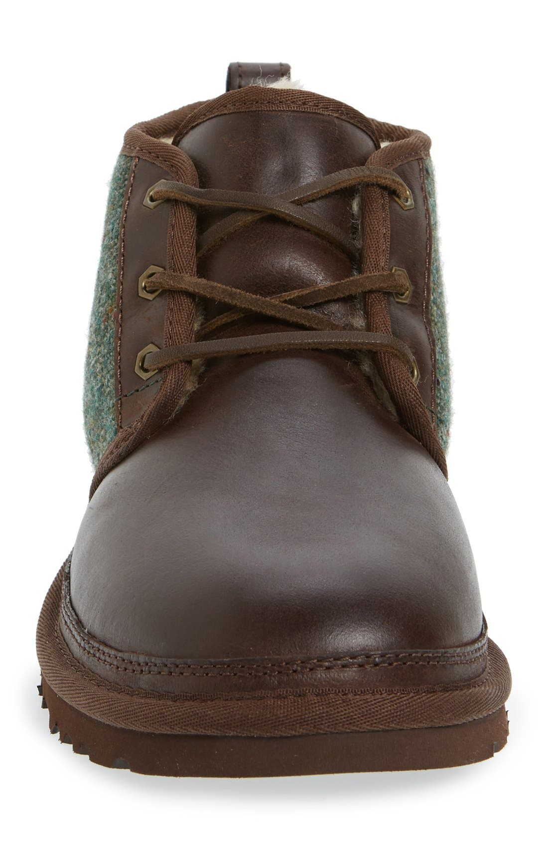 Neumel Wool & Leather Chukka Boot,                             Alternate thumbnail 3, color,                             Stout