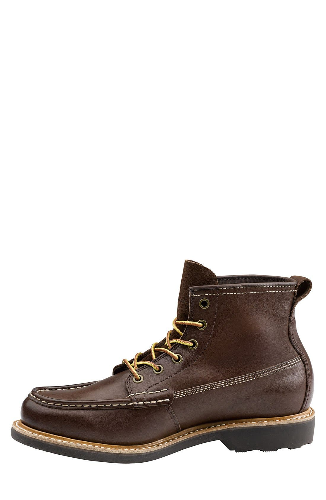 'Ashby' Moc Toe Boot,                             Alternate thumbnail 2, color,                             Mahogany