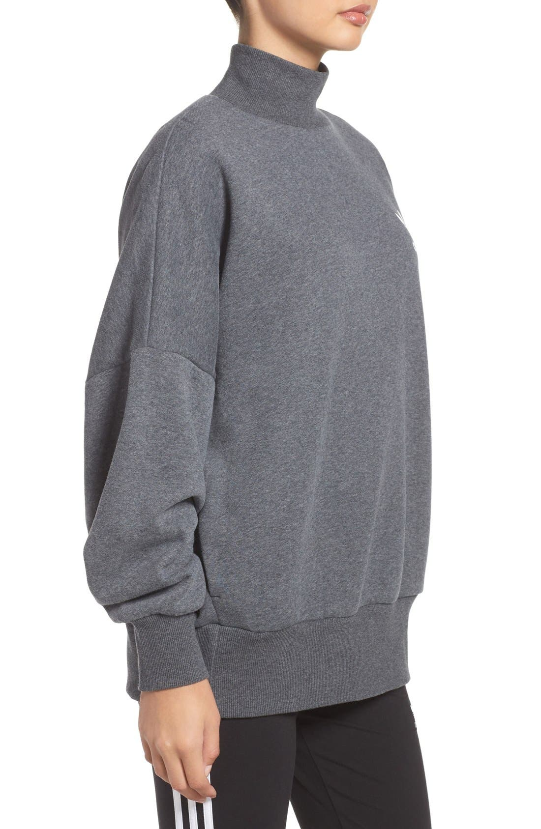 Alternate Image 3  - adidas Originals Mock Neck Sweatshirt